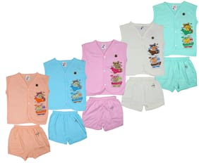 Kavin's Cotton Baby Set for Kids, Pack of 5, Multicolored-158