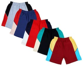 Kavin's Trendy & Attractive Cotton Shorts for Kids, Pack of 5, Multicolored