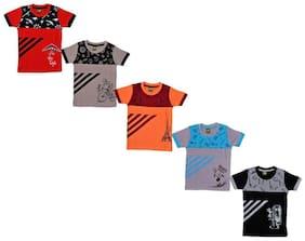 Kavin Boy Cotton Printed T-shirt - Multi