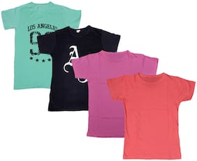 Kavya Boy Cotton Printed T-shirt - Multi