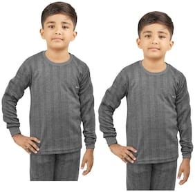 Kavya Thermal For Boys - Grey , Set of 2