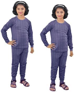 Kavya Thermal for Girls - Blue , Set of 4