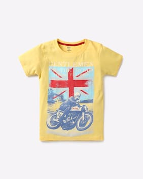 KB TEAM SPIRIT By Reliance Trends Boy Yellow T-Shirt