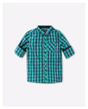 KB TEAM SPIRIT By Reliance Trends Green Cotton Shirt