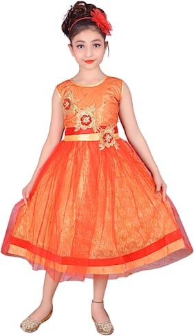 Orange Princess Frock