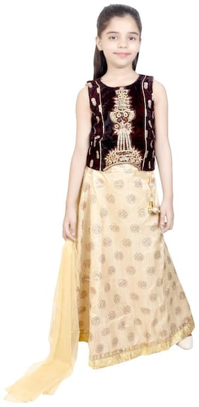 KBKIDSWEAR Girl's Party Wear Lehenga Choli with Dupatta Set
