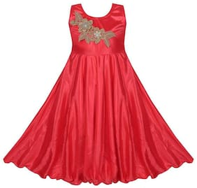 KBKIDSWEAR Girl's Round Neck Party Wear gown