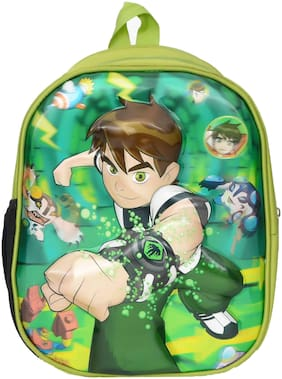 Kelvin Planck Famous Cartoon character Ben-10 In 3D -Effect  School Bag