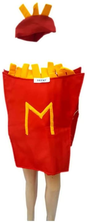 KFD French fries fancy dress for kids;Object Costume for School Annual function/Theme Party/Competition/Stage Shows Dress