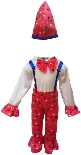 Kaku Fancy Dresses Comic Character Joker Costume -Multicolour, 5-6 Years, For Boys & Girls