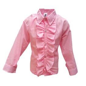 Kaku Fancy Dresses Pink Frill Shirt Western Costume -Pink, 3-4 Years, For Boys