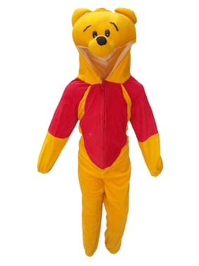 Kaku Fancy Dresses Cartoon Costume -Yellow, 5-6 Years, For Boys & Girls