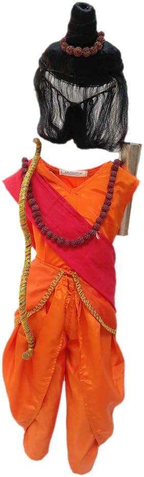 Kaku Fancy Dresses Vanvasi Ram Costume Of Ramleela/Dussehra/Mythological Character -Multicolour, 5-6 Years, For Boys
