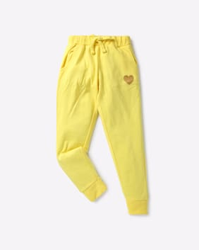 KG FRENDZ By Reliance Trends Girl Yellow Track Pants
