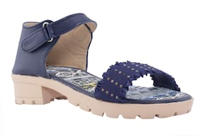 Khadim's Navy Blue Girls Slippers