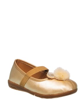 Khadim's Gold Ballerinas For Girls