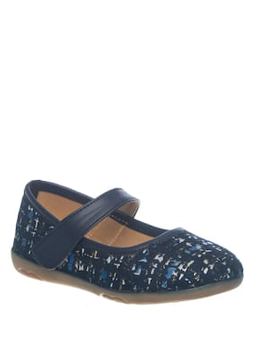 Khadim's Blue Ballerinas For Girls