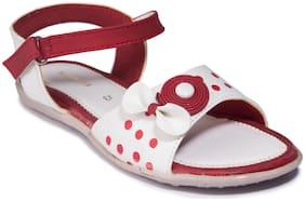 Khadim's Maroon Girls Sandals