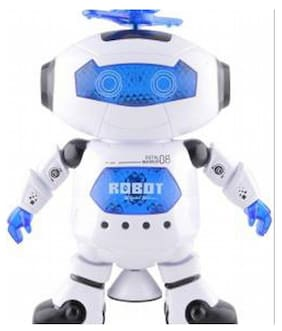 KHALSA TOYS AND SALES Musical Dancing Robot with 3D Lights  (Multicolor)