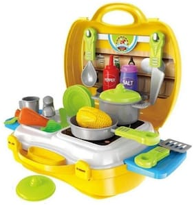 Kid Chef Bring Along Kitchen Cooking Suitcase Set (26 pcs)