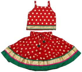 Kid's Wear Block Print Lehenga Choli