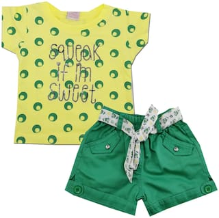 KID'S CARE Baby girl Top & bottom set - Green