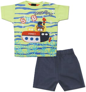 KID'S CARE Baby boy Top & bottom set - Green & Blue