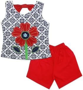 KID'S CARE Baby girl Top & bottom set - Red