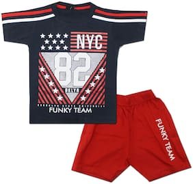 KID'S CARE Baby boy Top & bottom set - Blue & Red
