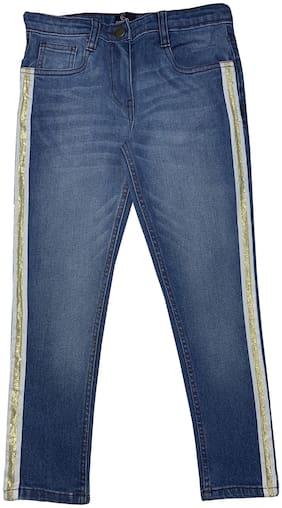 KiddoPanti Girl's Fashion Jeans Pant With Tape