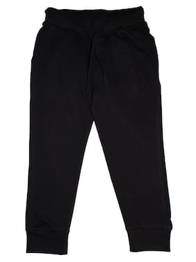 KiddoPanti Boy Cotton Track pants - Black