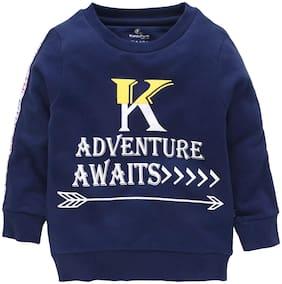 KiddoPanti Boy Cotton blend Printed Sweatshirt - Blue