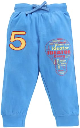 KiddoPanti Boy Cotton Track pants - Blue
