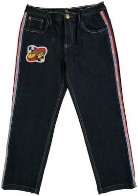 KiddoPanti Boy's Fashion Denim Pant With laydown Tape