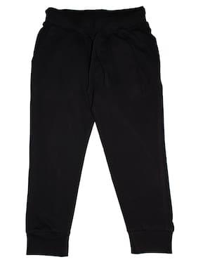 KiddoPanti Boy Cotton Track pants - Black