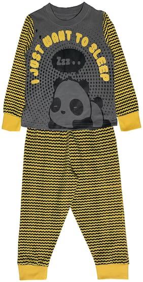 KiddoPanti Boy Cotton Printed Top & Pyjama Set-Multi