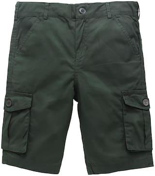 KiddoPanti Boys Knee Length Cargo Short (Green)