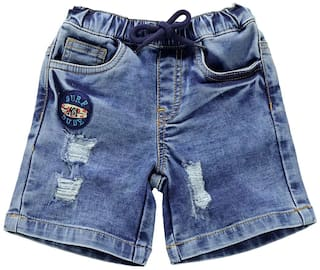 KiddoPanti Boy Applique Shorts & 3/4ths - Blue