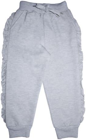KiddoPanti Girl Cotton blend Track pants - Grey