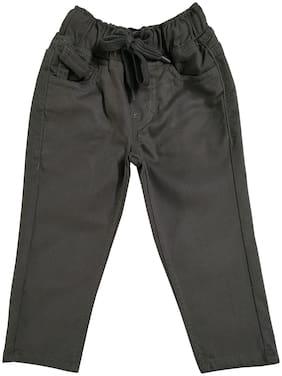 KiddoPanti Boy Solid Trousers - Grey