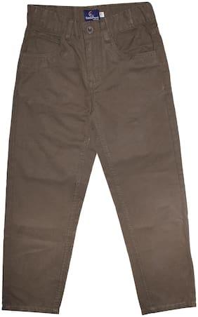 KiddoPanti Boy Solid Trousers - Brown