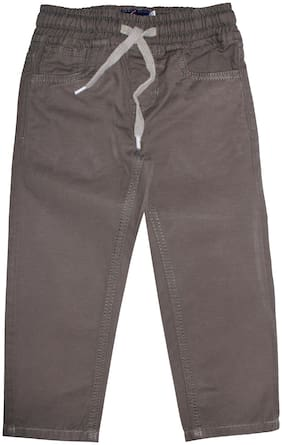 KiddoPanti Boy Solid Trousers - Brown