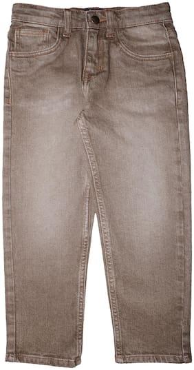 KiddoPanti Boy's Regular fit Jeans - Brown