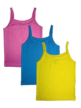 KiddoPanti Vest for Girls - Multi , Set of 3