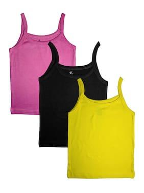 KiddoPanti Vest for Girls - Multi , Set of 3