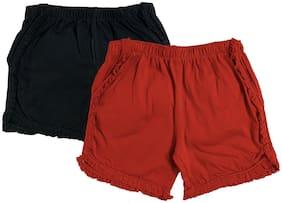 Red;Black Regular Shorts Shorts