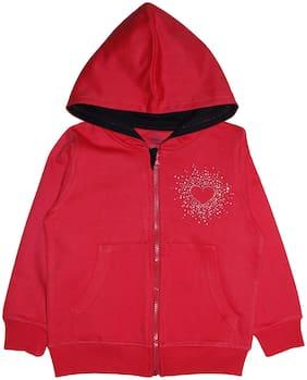 Red Sweatshirt Jacket