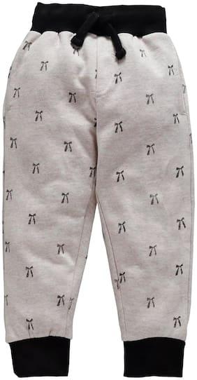 KiddoPanti Girl Cotton Track pants - Grey