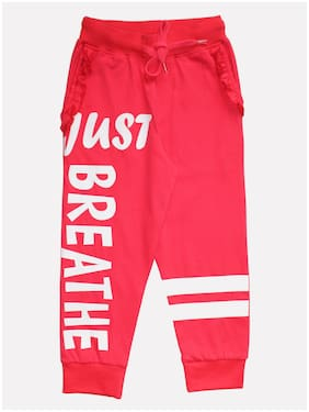 KiddoPanti Boy Cotton Track pants - Pink