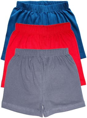 KiddoPanti Girl Cotton blend Solid Regular shorts - Multi